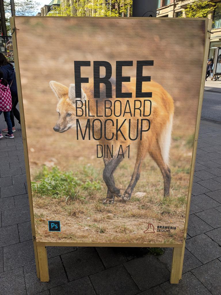 Plakat MockUp A1 in Luxemburg Stadt